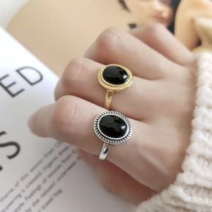 Jewelry - Vintage Agate Gold Plated Sterling Silver Ring